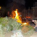 Kerstboomverbranding op de Lennikse Markt
