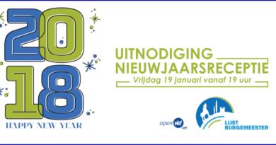 Uitnodiging Nieuwjaarsreceptie Open VLD Lennik en Lijst Burgemeester